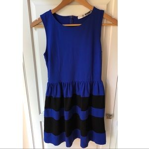 Nordstrom Necessary Objects Blue Fit Flare Dress S